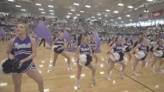 High School Cheerleaders Dance in Slow Motion