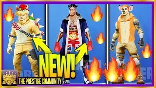 Fortnite **NEW DOPE** MARIO BOWSER Skin, KSI Skin & The Rock Skin! (Fortnite Skin Concepts 2019)