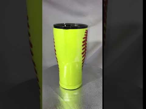 Softball 30oz Glitter Tumbler