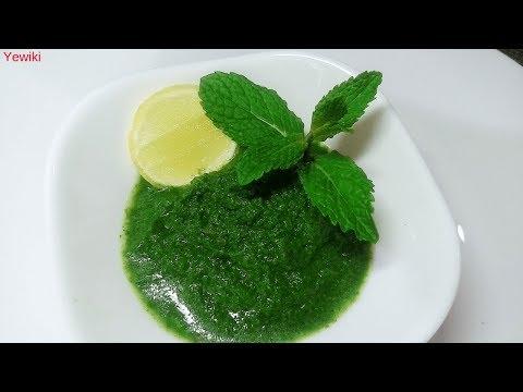 Pudina Chutney   Mint Chutney   Green Chutney