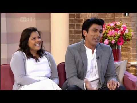 Nina Wadia and Ace Bhatti on This Morning 010611