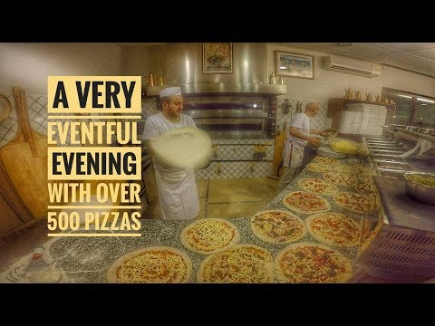 A very eventful evening with over 500 pizzas made at Ristorante Pizzeria infinity