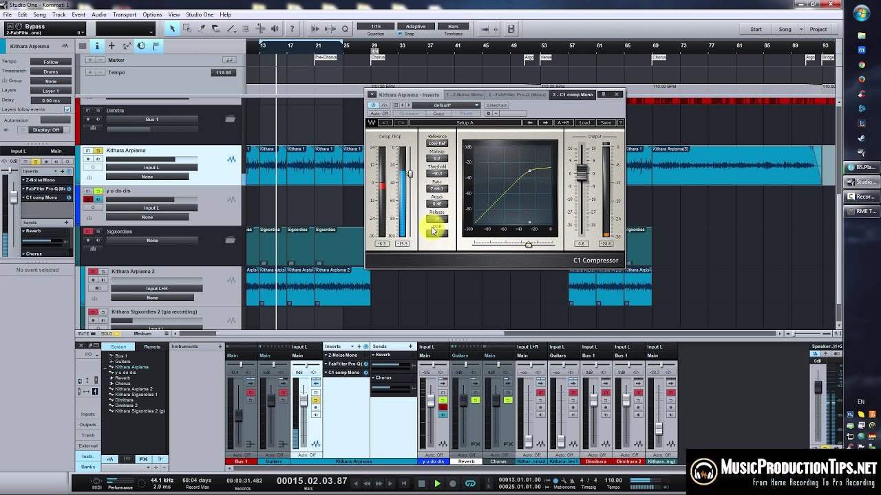 Acoustic Guitar EQ, Compression, Effects - Mixing