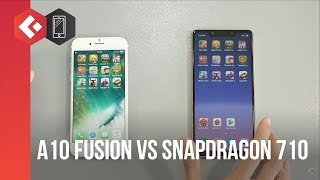 Speedtest iphone 7 va Xiaomi mi 8 SE - A10 fusion vs Snapdragon 710