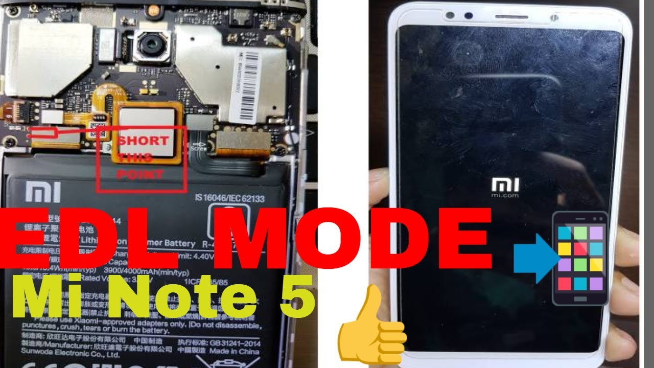 How To Redmi Note 5 Mei7 Edl Mode Youtube