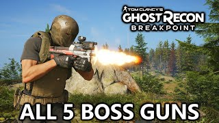 Ghost Recon Breakpoint - All Unique Boss Guns - Secret Unlocks, Stats, Gameplay (Signature Weapons)