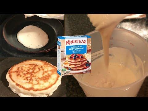 How do you make waffles with krusteaz pancake mix