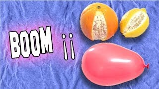 Explotar Globos con Naranjas y Limones | Explode Balloons with Oranges and Lemons