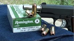 Remington 45acp 230gr JHP UMC Ballistic Gel Test