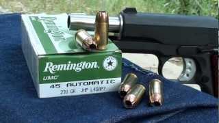 Remington 45acp 230gr JHP UMC Ballistic Gel Test