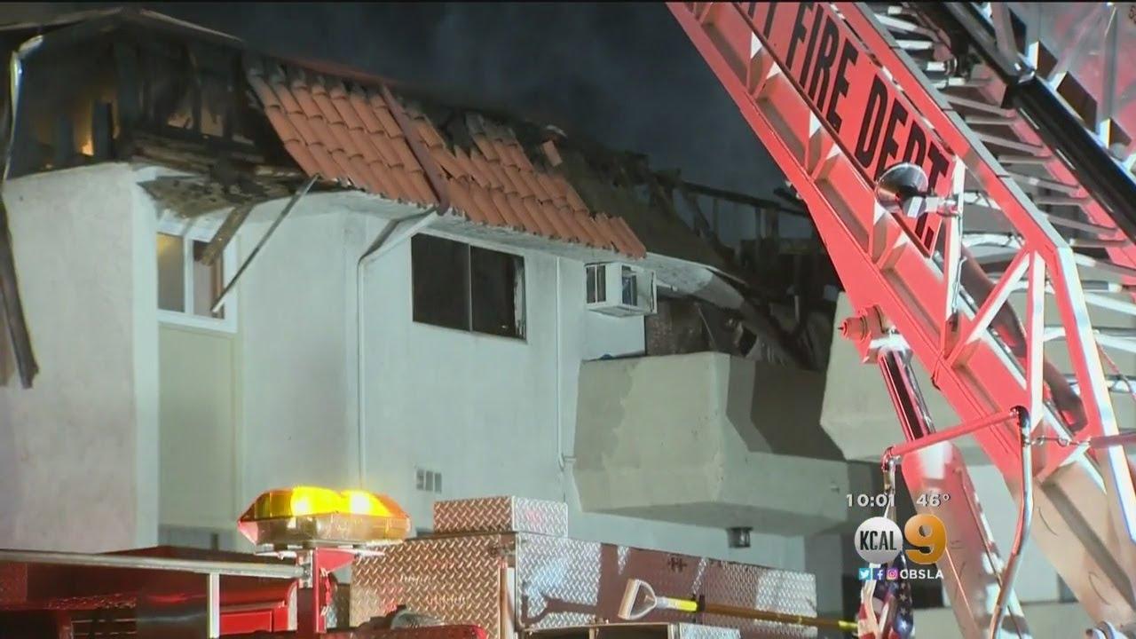 Block-Long Fire Destroys More Than 40 Apartments In Pico Rivera Complex