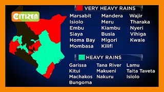Heavy rains will continue to pound many parts of the country, Weatherman warns