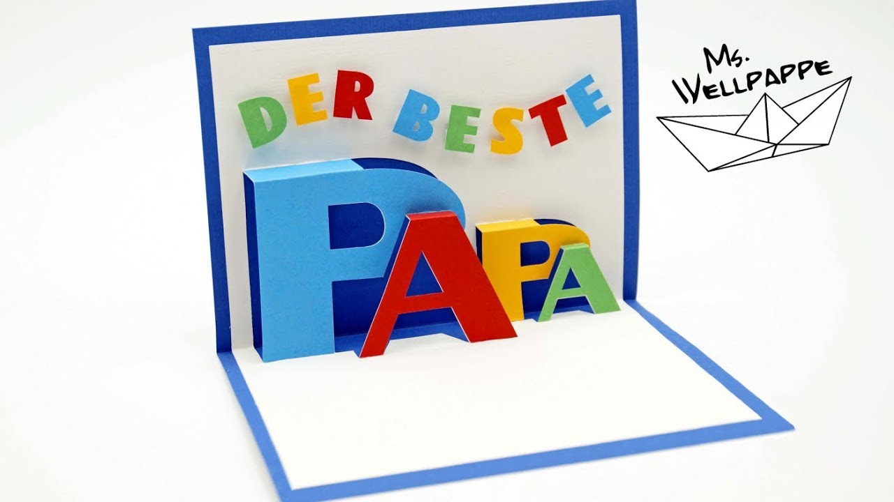 Bastelvorlagen Grundschule Pop Up Card For Fathers Day How To Make Popup Cards Diy