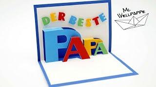 Pop Up Karte basteln zum Vatertag - Vatertagsgeschenke basteln