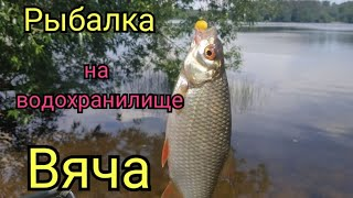 Фидерная рыбалка на водохранилище Вяча Поклёвки просто бомба Рыбалка на пляже