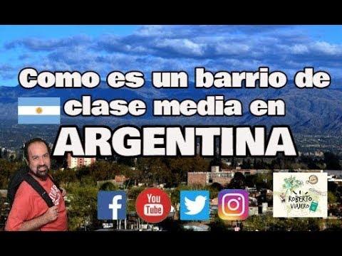 Como es un barrio de CLASE MEDIA en la Argentina