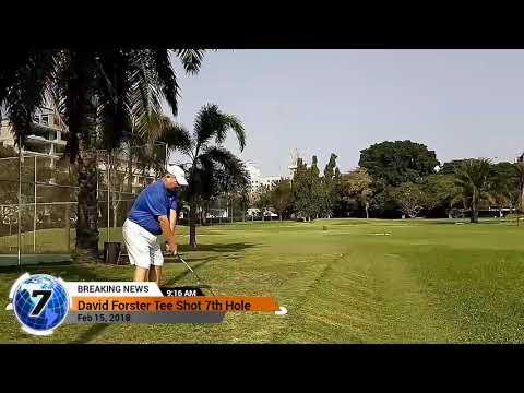 7th Hole Tee Shot Asia Pattaya Golf Course Thailand