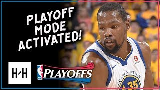 Kevin Durant Full Game 1 Highlights Warriors vs Spurs 2018 Playoffs - 24 Pts, 8 Reb in 3 Qtrs
