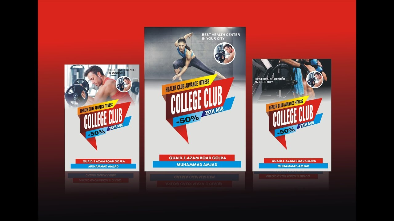 Poster design using corel draw - How To Make Gym Poster Design Using Coreldraw X6