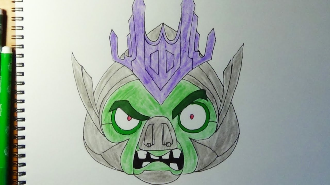 How To Draw Angry Birds Transformers King Pig As Megatron