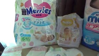 сравнение подгузников moony, merries, huggies elite soft(, 2016-05-19T15:53:05.000Z)