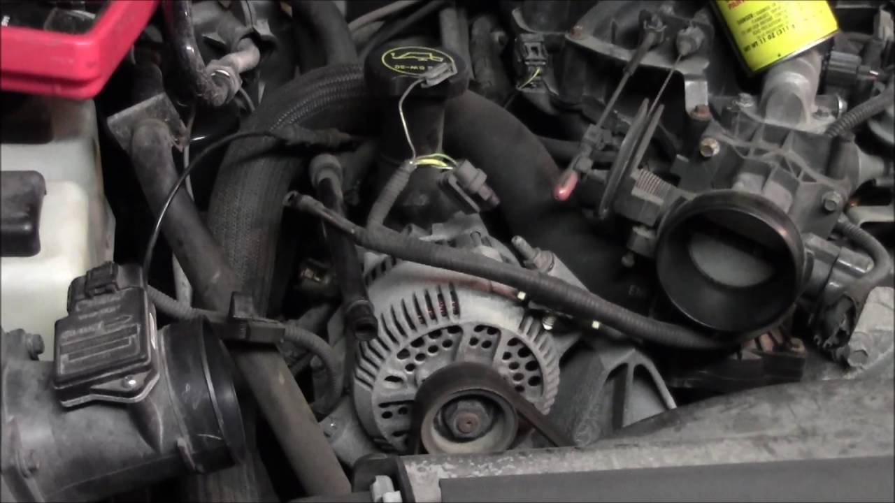 2002 Ford Ranger 4 0l V6 Alternator Swap Youtube