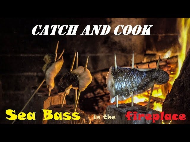 Spearfishing | A Day In the LIFE of a Spearo - CATCH and COOK🔥 - Sea Bass in the Fireplace ✅