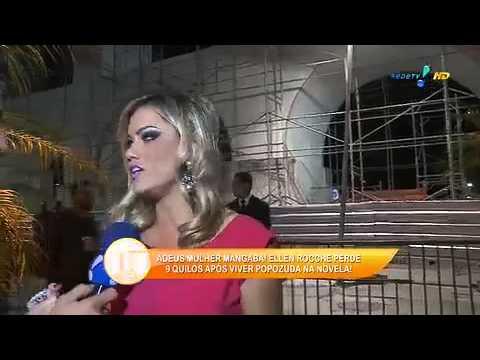 Ellen Rocche Perde 9 Quilos Após 'Mulher Mangaba' - TV Fama 01/05/2014