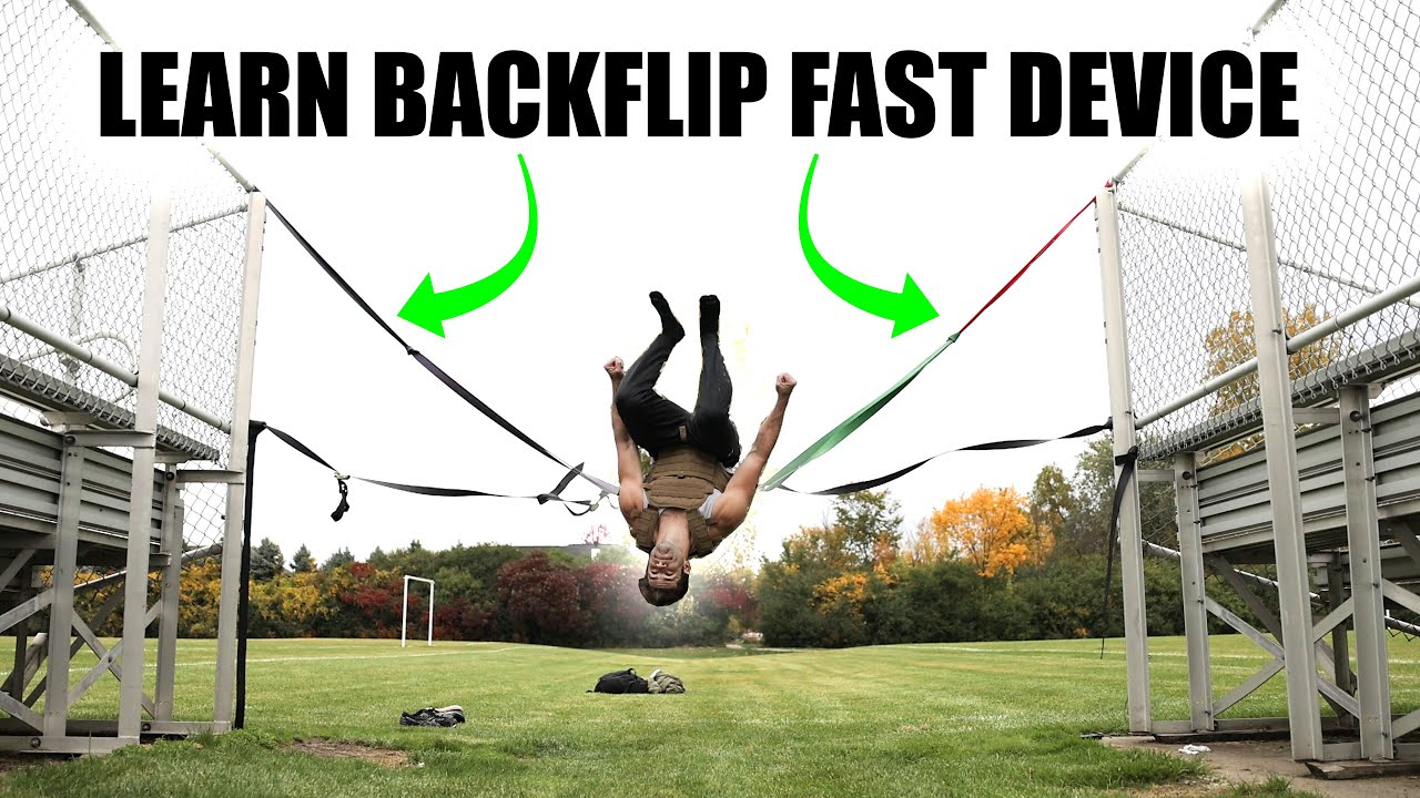 Crazy Homemade Hack makes it easy to Learn How to Backflip Fast!