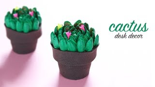 DIY Cactus Desk Decor | Pista Shell Craft | Best Out of Waste
