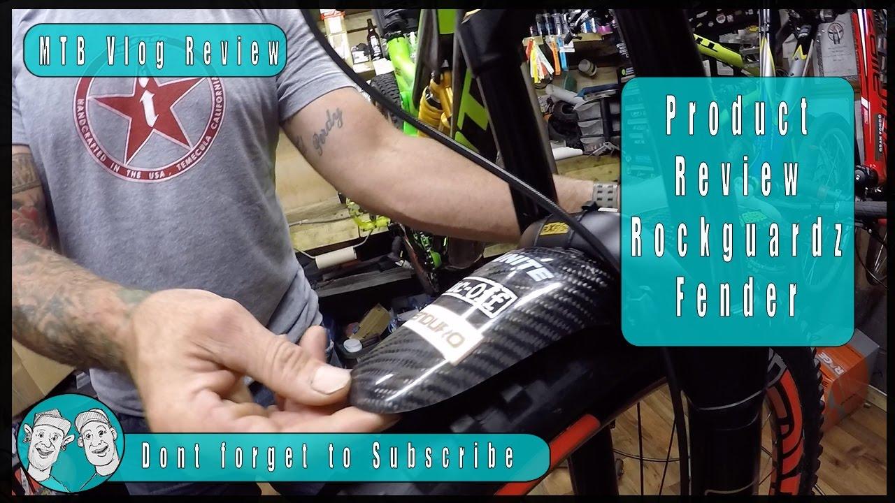 719e88ad223 Rockguardz Mountain Bike Carbon Mudguard Review - YouTube