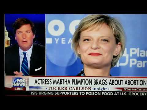 Martha Plimpton brags about abortion....