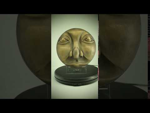 Moon Face Man Bronze Wall Art Sculpture Decor Gift