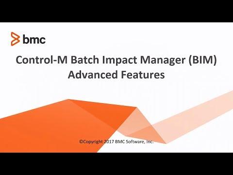 Control-M Batch Impact Manager (BIM) - Advanced Features