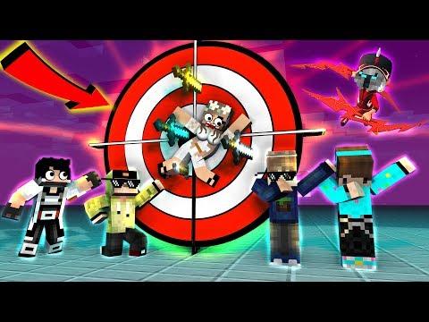 ANIMASI LUCU ! YUTUBER BARBAR LOMBA LEMPAR PlSAU MALAH KENA KIMI CHAN - Minecraft Animation