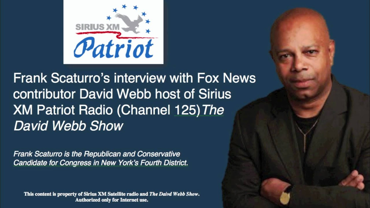 Frank Scaturro's Interview with David Webb, Sirus XM Patriot Radio (June  22, 2012)