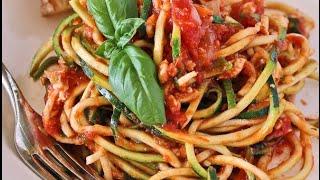 SPAGHETTI di ZUCCHINE !!! ALTERNATIVA ALLA PASTA che NON FA INGRASSARE !!! | Zucchini Noodles