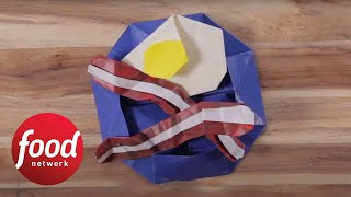 How to Make Bacon and Egg Origami | Food Network