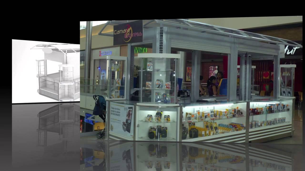 Kioscos y burbujas para centros comerciales youtube for Kioscos prefabricados