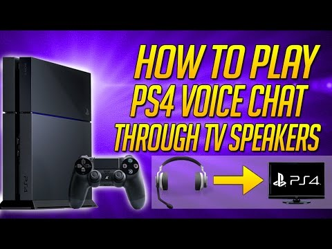 How To Play PS4 Voice Chat Through TV Speakers | Record In Game Voice Chat