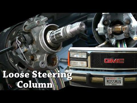 91 GMC C3500 Steering Column Disassembly GM Loose Sloppy Tilt