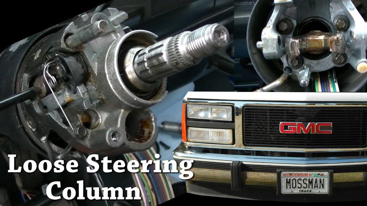 91 gmc c3500 steering column disassembly gm loose sloppy tilt [ 1280 x 720 Pixel ]