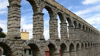 Segovia, Spain: The Roman Aqueduct and palaces of the old city