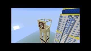 Timelapse : tower al yaqoub , dubai in minecraft