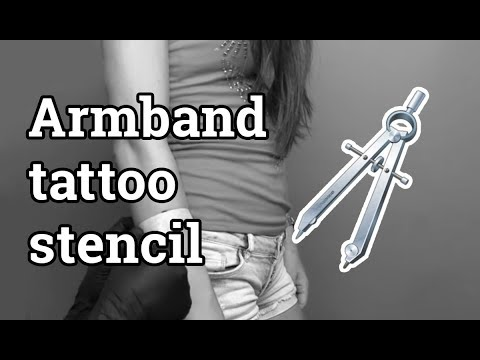 How To Make Perfect Armband Tattoo Stencil Easily