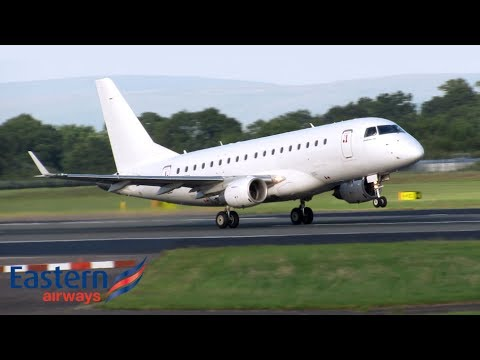 Eastern Airways Embraer 170 Departure at Manchester!