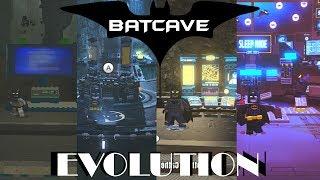 Batcave Evolution in Lego Videogames (2008 - 2017)