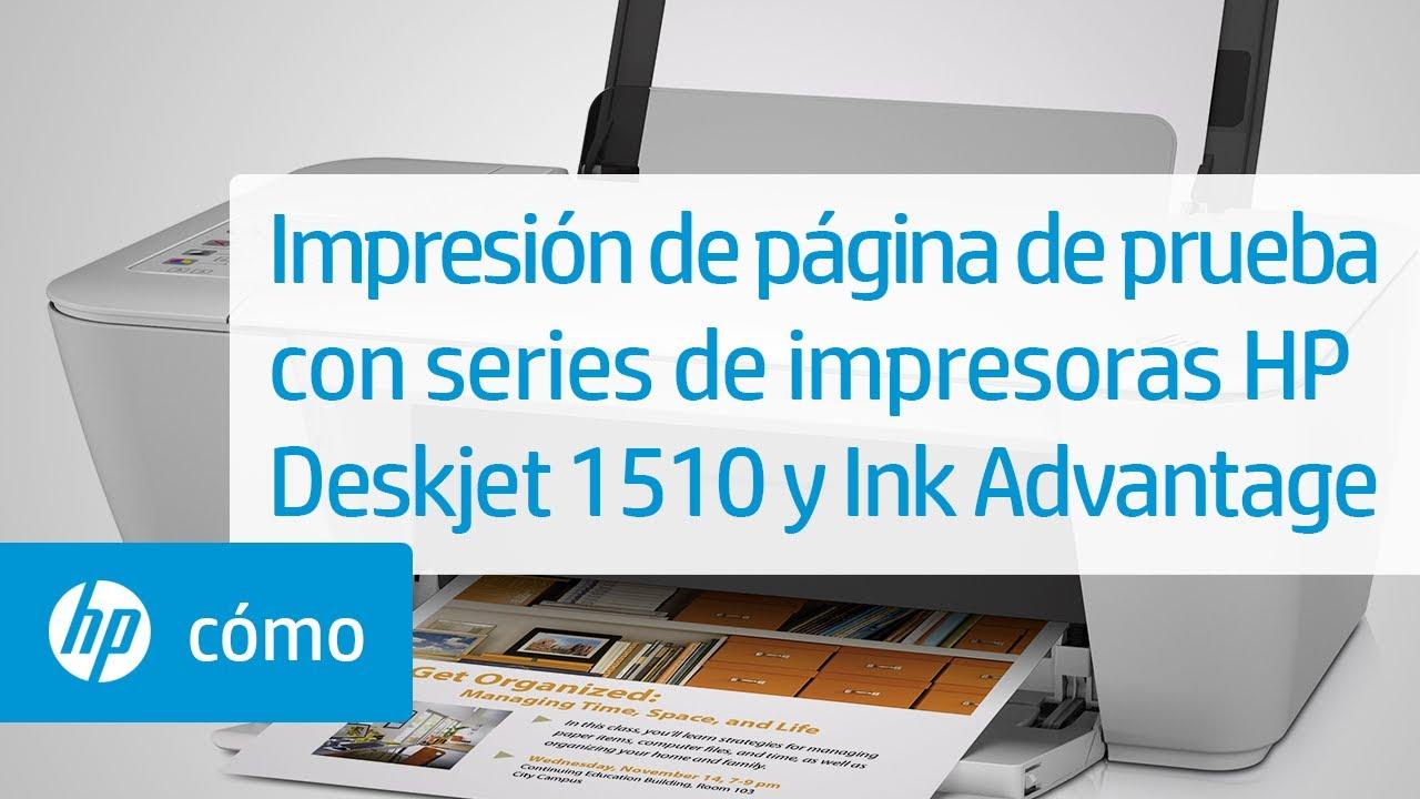 Impresión de página de prueba con series de impresoras HP Deskjet ...