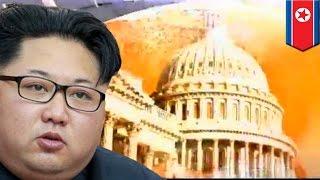 North Korea v USA: Kim Jong Un blows up America in North Korean propaganda video - TomoNews