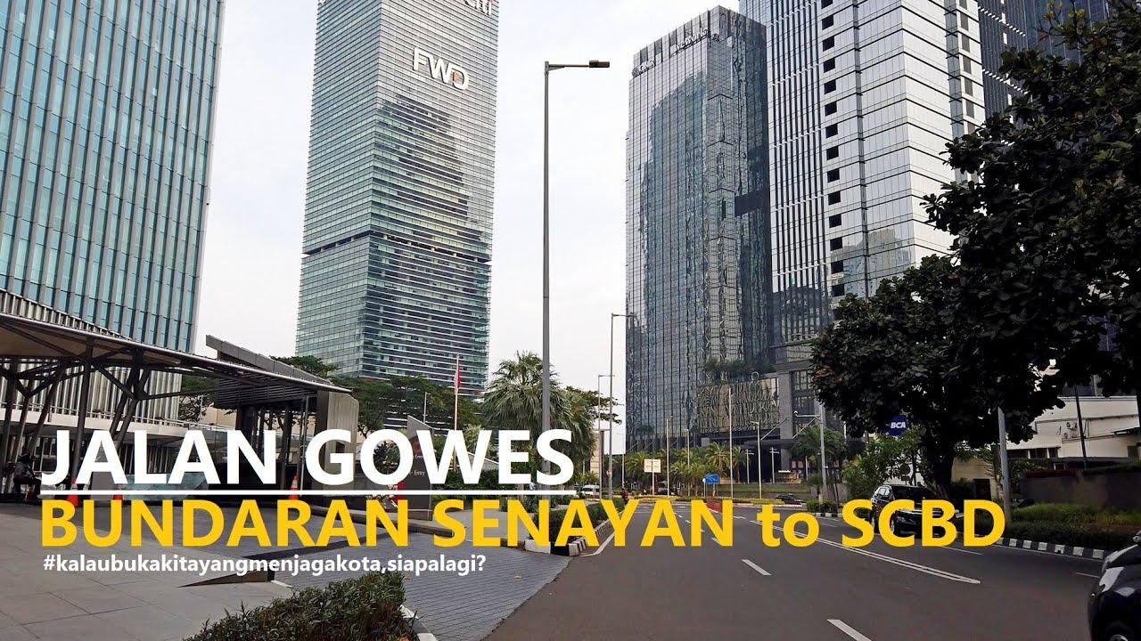 Bike Around to SCBD Jakarta ~ from Bundaran Senayan via fx Plaza and JPO Kekinian at Sudirman 【4K60】